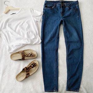 Zara Dark Blue Stretch Jeans